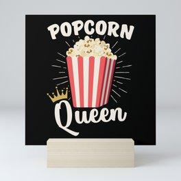 Popcorn Queen Popcorn Lovers Mini Art Print
