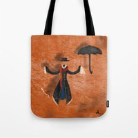 mary poppins Tote Bags featuring Mary Poppins by fedralita