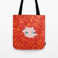 merida Tote Bags featuring Merida by Glopesfirestar
