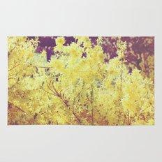 yellow flower - Forsythia Rug