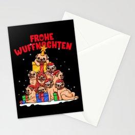 Frohe Wuffnachten für Mops Besitzer - Hundehalter Stationery Cards