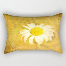 Textured Daisy Rectangular Pillow