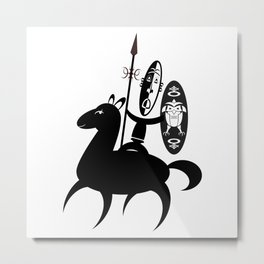 African Rider Metal Print