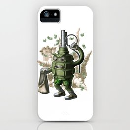 Grenade robber. iPhone Case