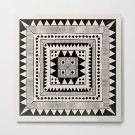 Black & White Symmetrical Pattern #1 Metal Print