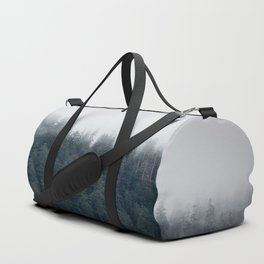 Misty Morning - Fog Rises off Mountains Revealing Forest in Washington Duffle Bag