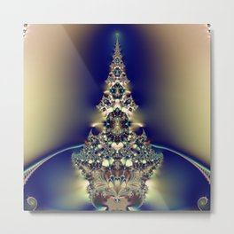 Fractal Christmas Tree Metal Print