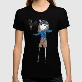 girl and crow T-shirt