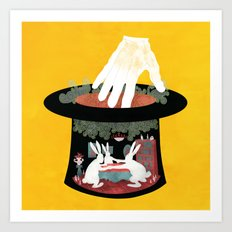 The Rabbit Séance Art Print