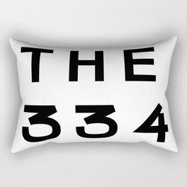 334 Alabama Area Code Typography Rectangular Pillow