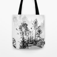woodland Tote Bags featuring Woodland by Schwebewesen • Romina Lutz