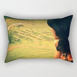 Lookin' Back Rectangular Pillow