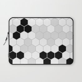 Honeycomb Pattern | Black and White Design | Minimalism Laptop Sleeve