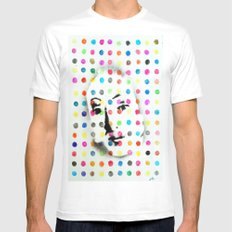 VENUS IN HIRSTIAN DOTS MEDIUM Mens Fitted Tee White