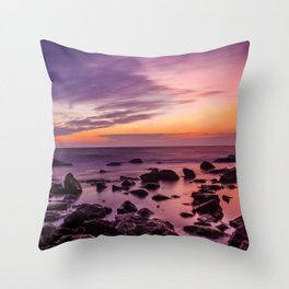 Waterscape with Sunset Throw Pillow