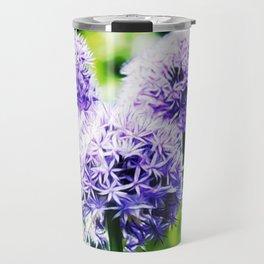 Fuzzy Blue Alliums Travel Mug