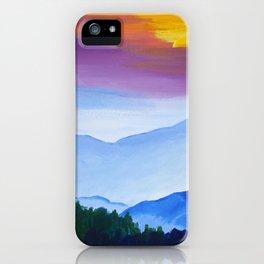 Smokey Mountain Sunset iPhone Case