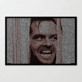 Text Portrait of Jack Torrance with Full Script of Shining Canvas Print
