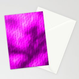 Line texture of magenta oblique dashes with a luminous intersection on a luminous charcoal. Stationery Cards