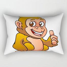 baby gorilla cartoon Rectangular Pillow
