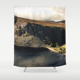 Irish Black Water - Lough Tay Shower Curtain