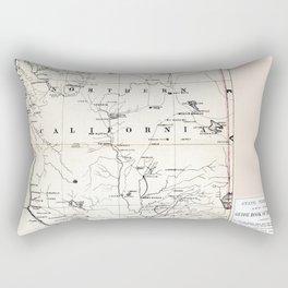Northern California Map 1866 Rectangular Pillow