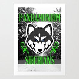 Pandamonium Siberians  Art Print