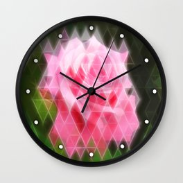 Pink Roses in Anzures 4 Art Triangles 2 Wall Clock