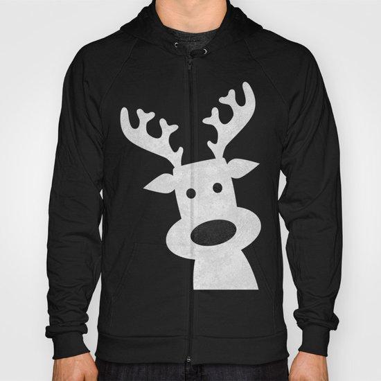 Christmas reindeer red marble Hoody