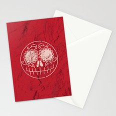 Distressed Sugar Skull Stationery Cards