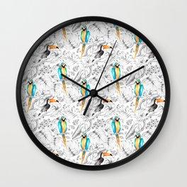 Jungle Pattern Wall Clock