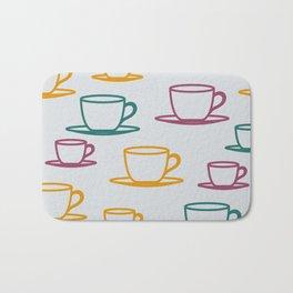 Teacups - multicolored Bath Mat