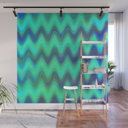 Agate Wave Blue - Mineral Series 001 Wall Mural