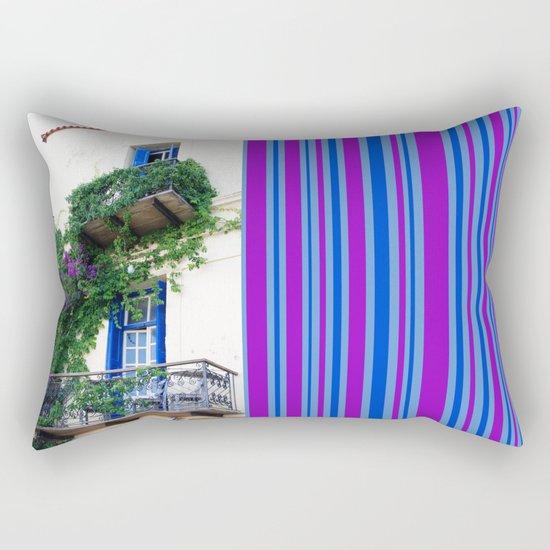 Chania Old Town View Rectangular Pillow