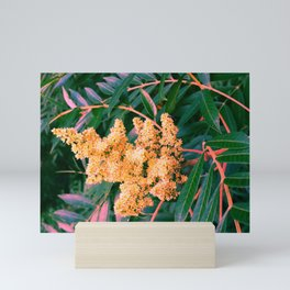 Green and Gold Sideways Sumac Mini Art Print