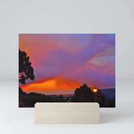 Smoky Sunset Bay Mini Art Print
