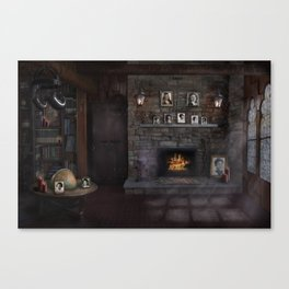 A Character - Decade Self Portraits in Gothic Scene Canvas Print