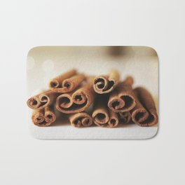 Cinnamon Sticks Bokeh Bath Mat