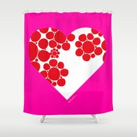 dot Shower Curtains featuring Dot by ♥ Charlie