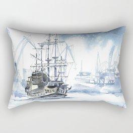 Harbour in Gdynia Rectangular Pillow