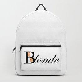 Beautiful blonde women Backpack