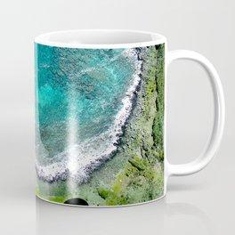Colorful Tropical Bay Edged In Ocean Surf Water Coffee Mug