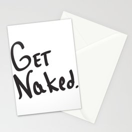 Get Naked. Stationery Cards