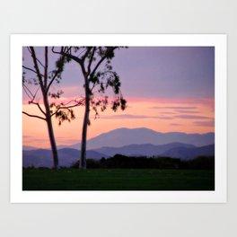 Saddleback Sunset Art Print