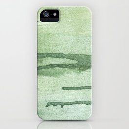 Dark sea green colorful wash drawing texture iPhone Case