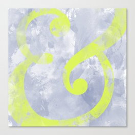 Grungy Ampersand Canvas Print
