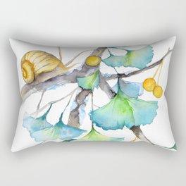 Ginkgo and A Snail Rectangular Pillow