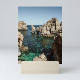 Dreamy cliffs and turquoise sea water, Ponta da Piedade Mini Art Print