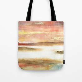 Abstract Landscape Watercolor Art Tote Bag