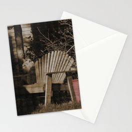 Sepia Chair By The Red Pot Stationery Cards